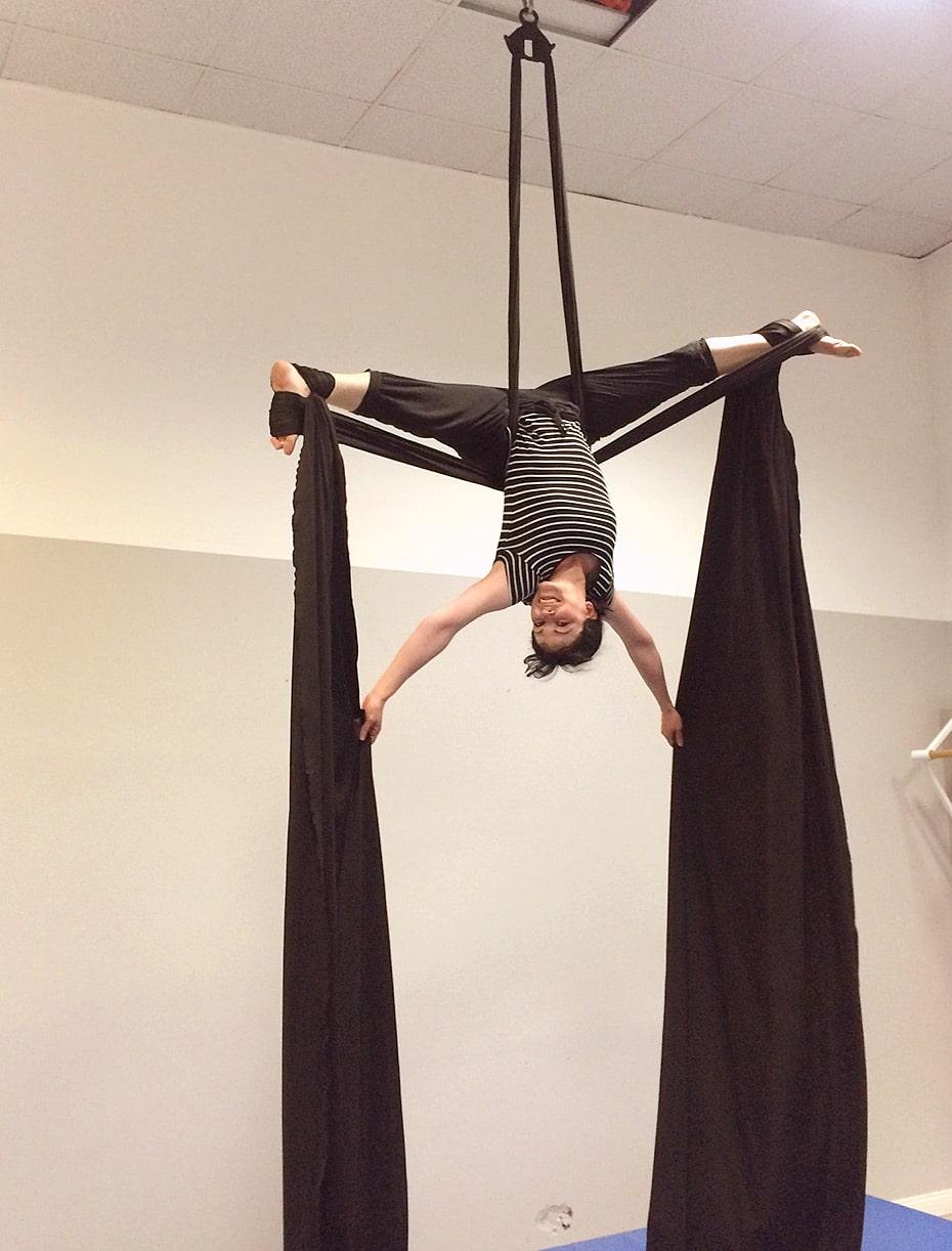 Aerial Silks, Luftakrobatik