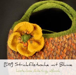 Filztasche mit Blume