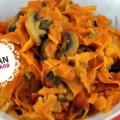 Karottennudeln in Erdnusssoße | vegan, LowCarb, WW