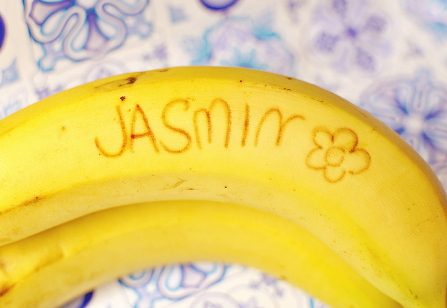 Bananenbotschaft, Spass mit Bananen, Sag's mit Bananen