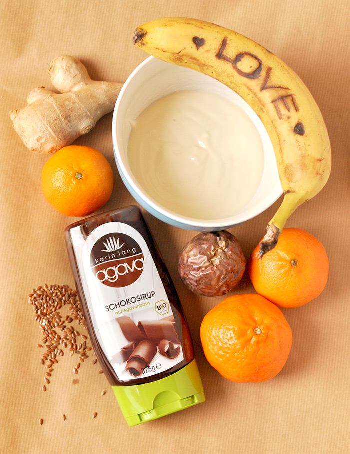Schoko liebt Mandarine Smoothie