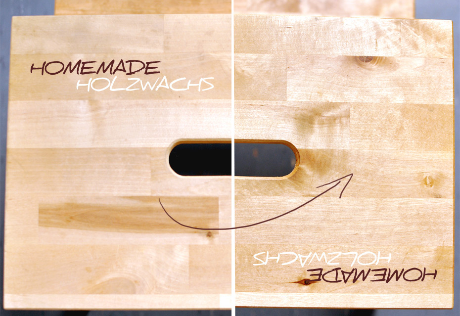 Homemade Holzwachs, 100% bio, wirksam, seidenmatt
