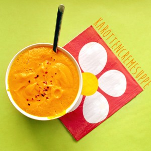 Karottencremesuppe mit frischer Orange und Ingwer