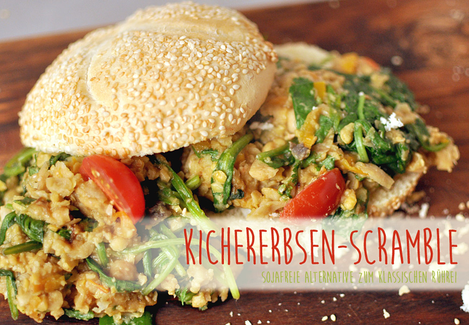 Kichererbsen Scramble, vegane Rührei-Alternative
