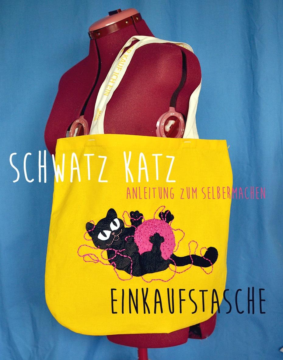 Schwatz Katz Einkaufstasche selbst gestalten