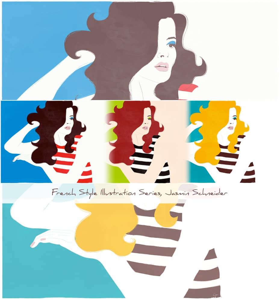 French Style Illustration Series by Jasz Schneider