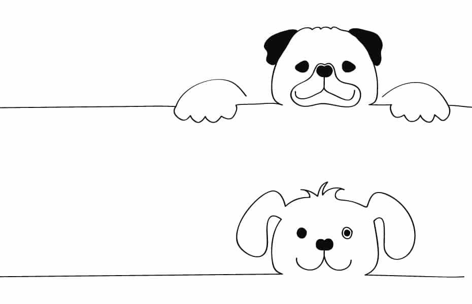 Schwatz Katz Stickvorlage Hund