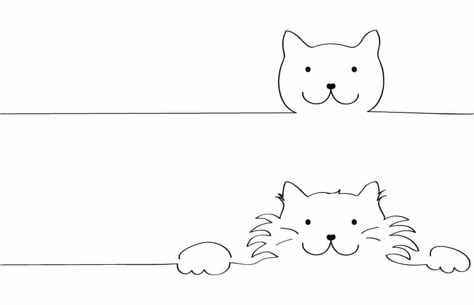 Schwatz Katz Stickvorlage Katz