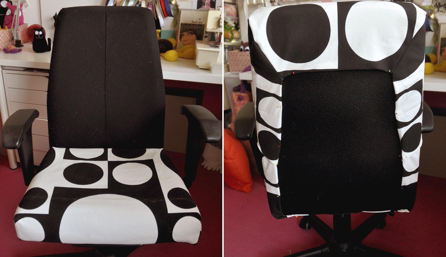 diy schreibtischstuhl neu beziehen schwatz katz. Black Bedroom Furniture Sets. Home Design Ideas
