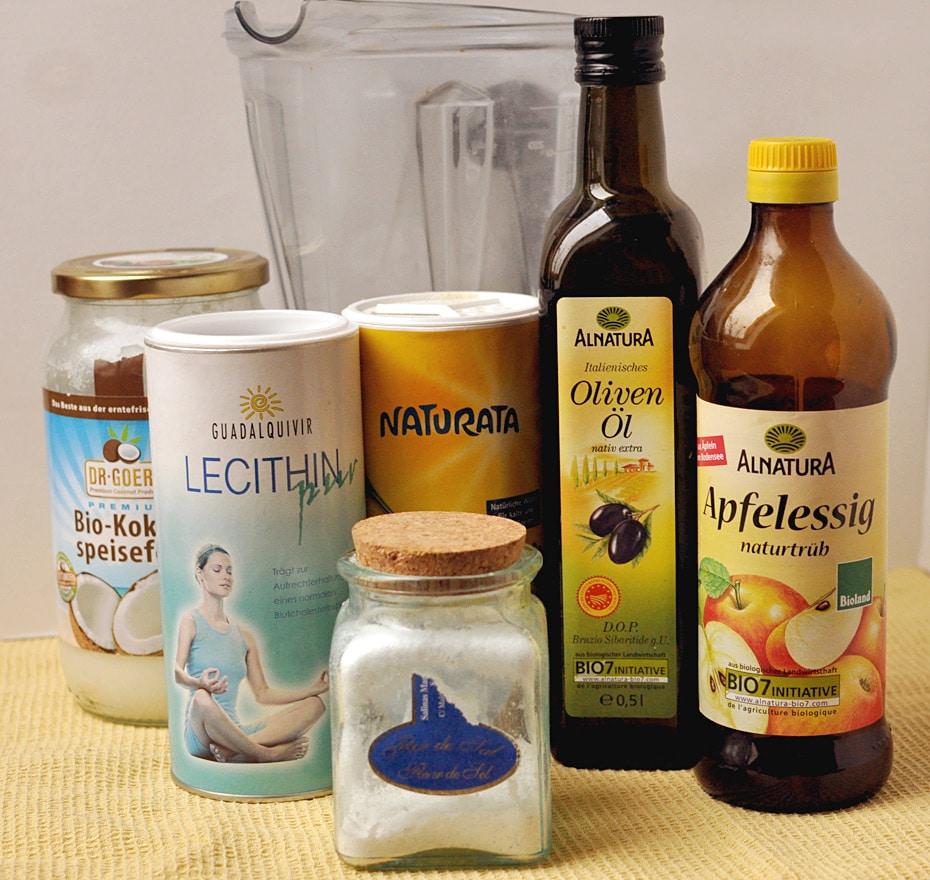 Zutaten für vegane Butter