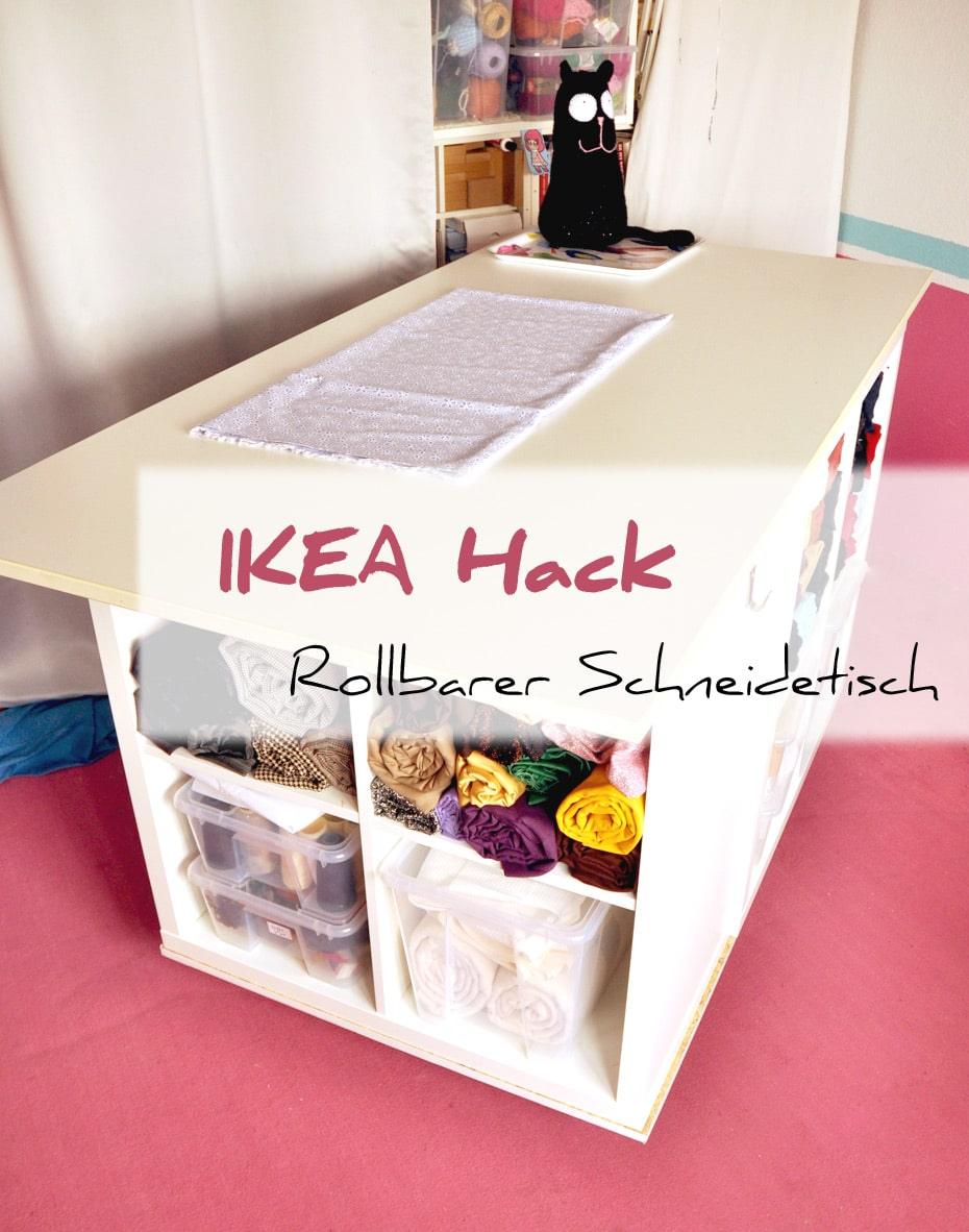ikea kallax hack schneidetisch deluxe schwatz katz. Black Bedroom Furniture Sets. Home Design Ideas