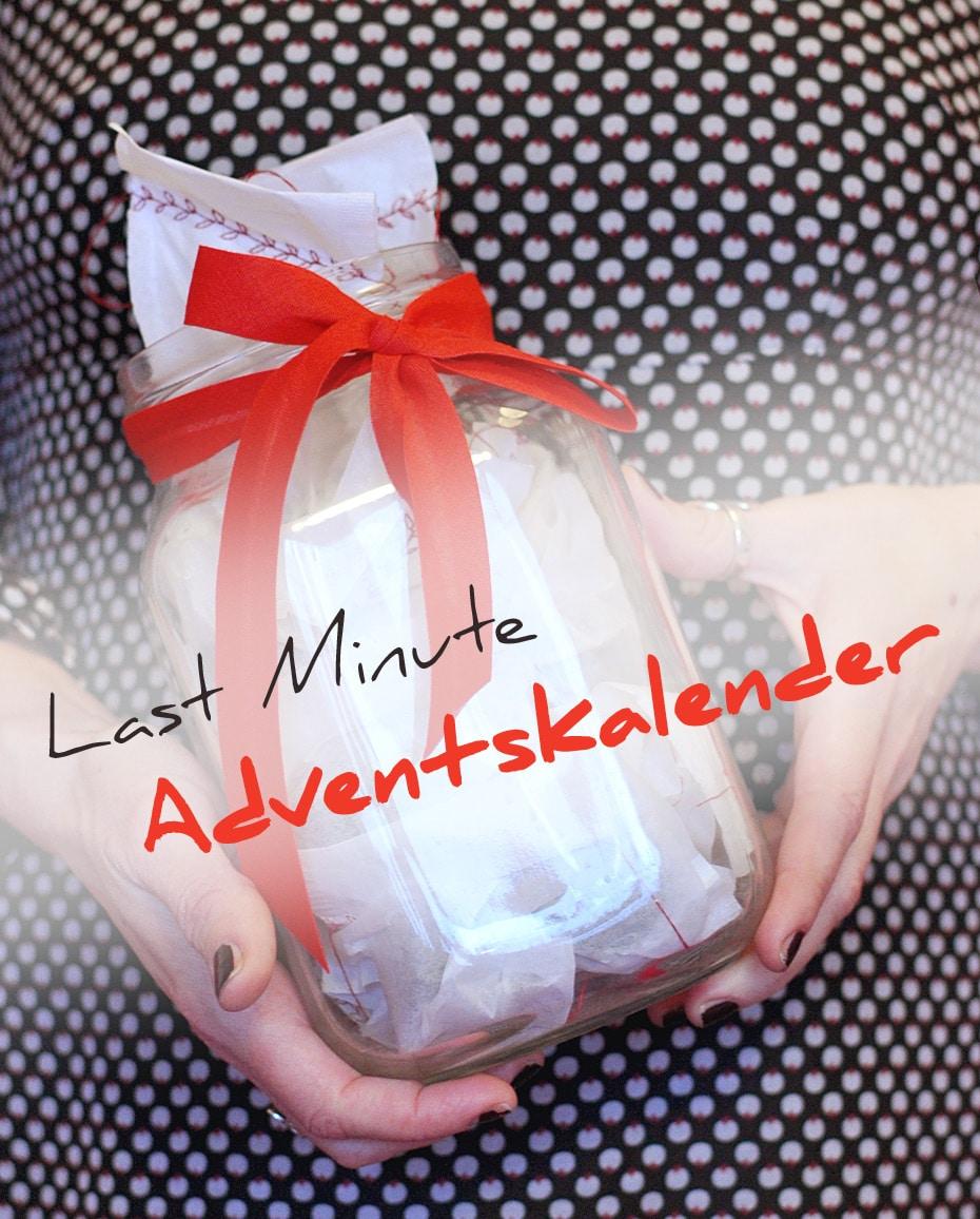 Last Minute Adventskalender-Girlande