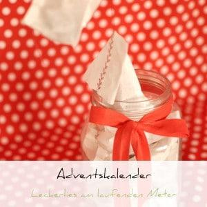 Adventskalender, Geschenkeglas