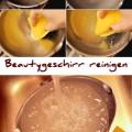Fettiges Beauty Geschirr reinigen