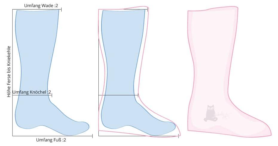 Stiefel statt Hausschuhe nähen | Schwatz Katz