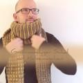 Grobmaschiger Schal mit Hebemaschen | Schwatz Katz