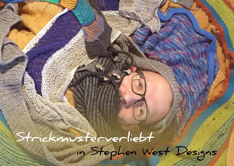 Strickmusterverliebt in Stephen West Designs | Schwatz Katz