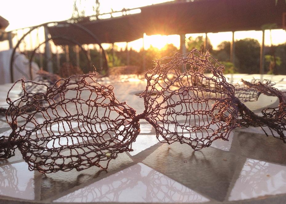 Gestrickte Halskette | Schwatz Katz