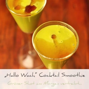 Green Shot oder Hallo Wach-Cocktail Smoothie | Schwatz Katz