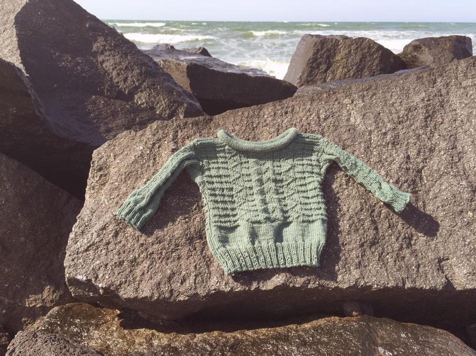 Guernsey Fischerpullover | Schwatz Katz