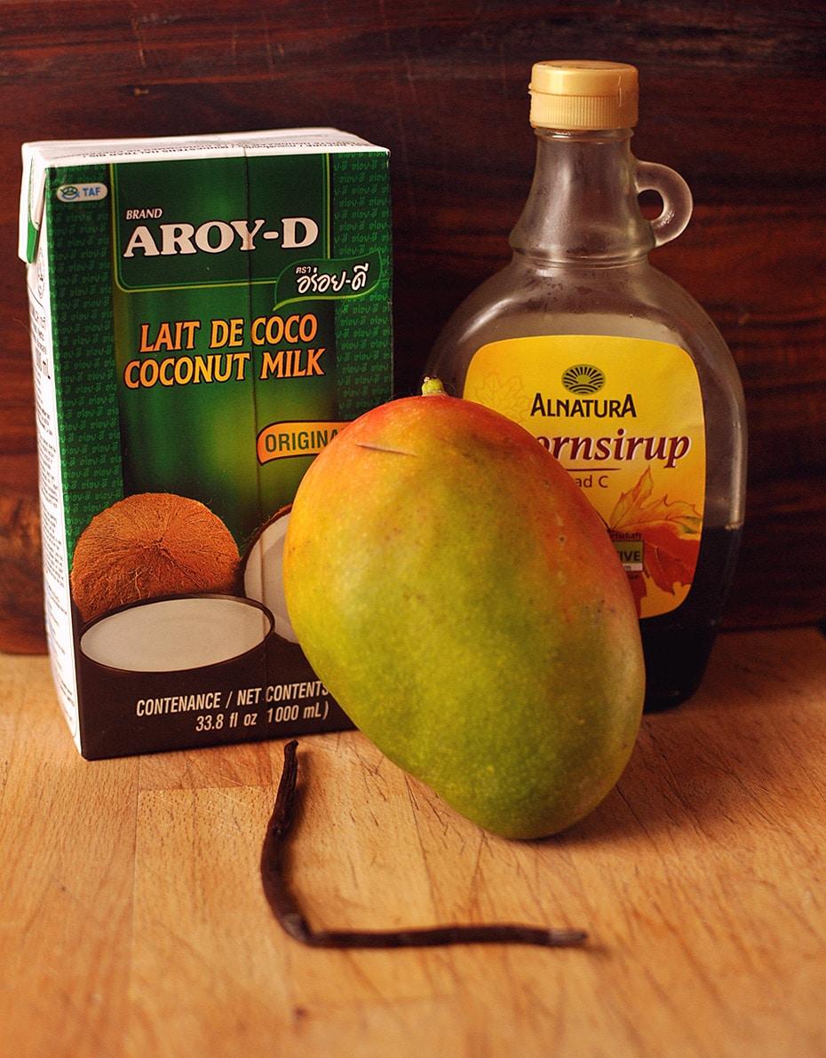 Mango-Kokos Eiscreme mit Vanille | Schwatz Katz