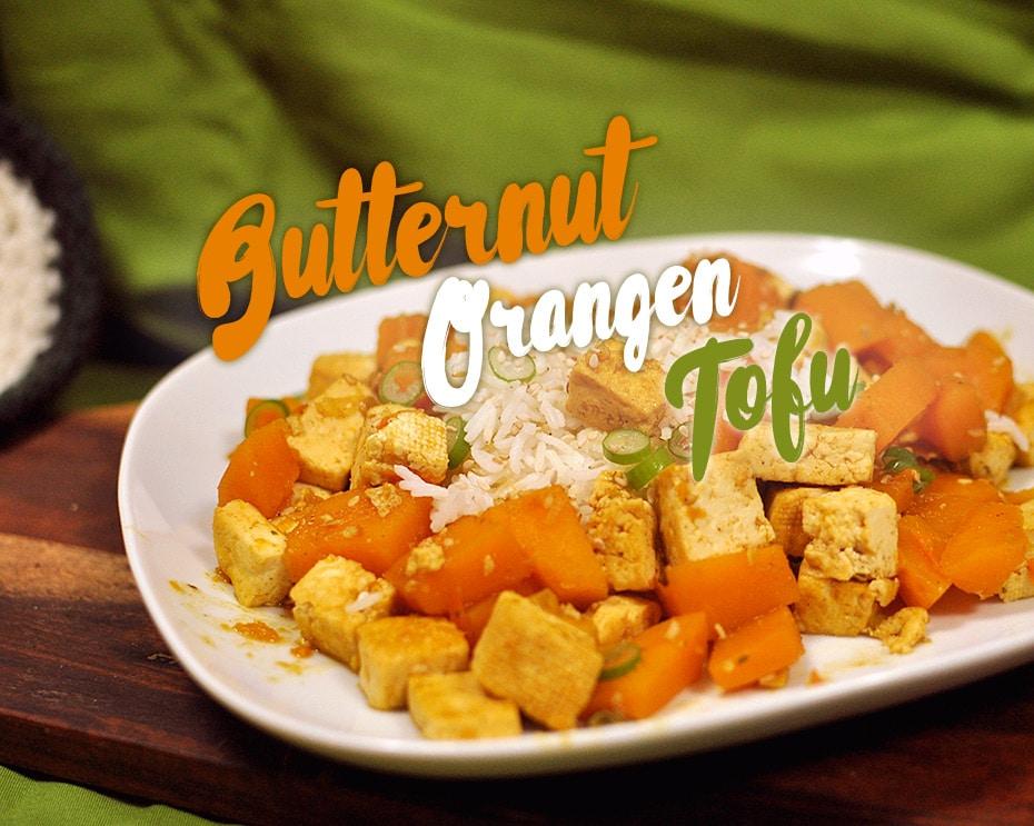 Butternut Orangen Tofu zu Reis | Schwatz Katz