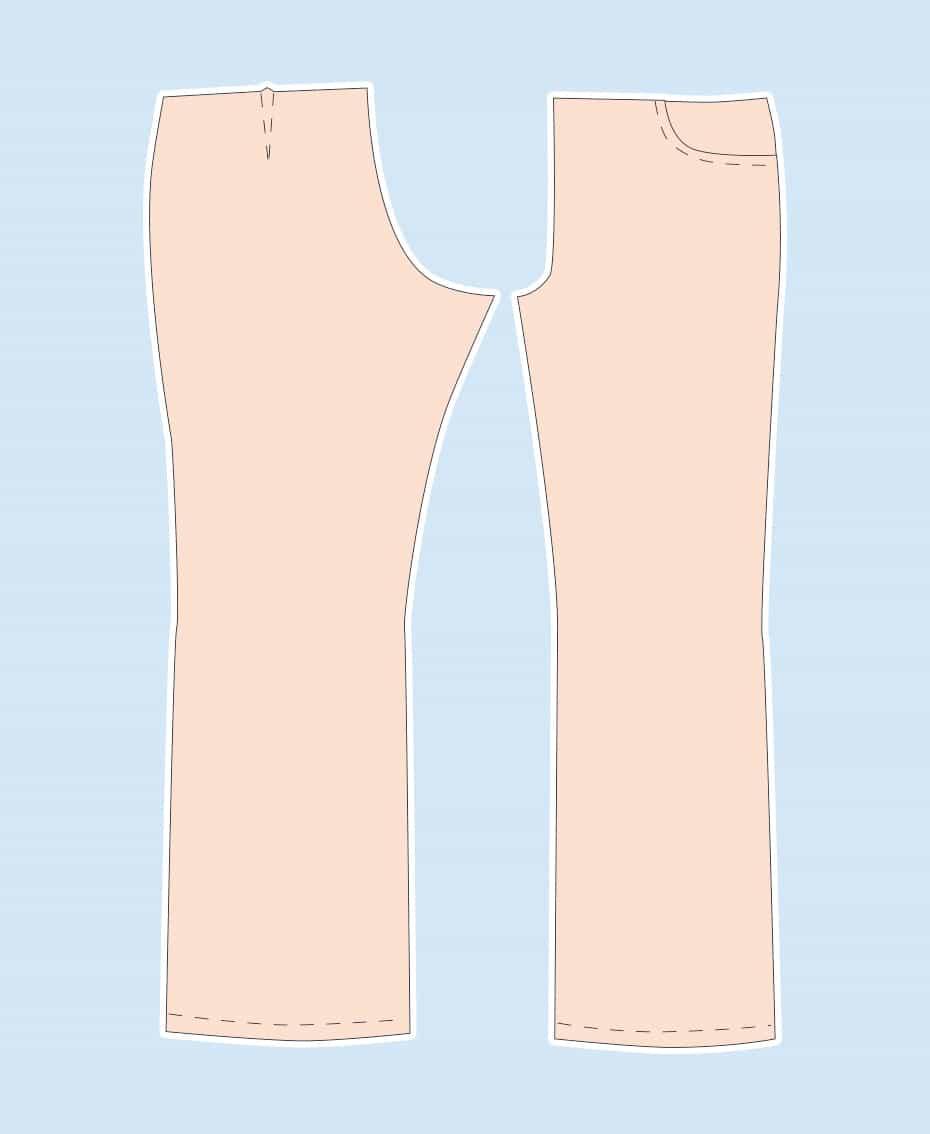 Butterick B5682 Hosenschnitt anpassen, mein persönlicher Albtraum | Schwatz Katz