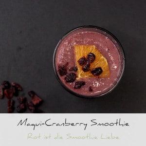 Maqui Cranberry – Rot ist die Smoothie Liebe | Schwatz Katz