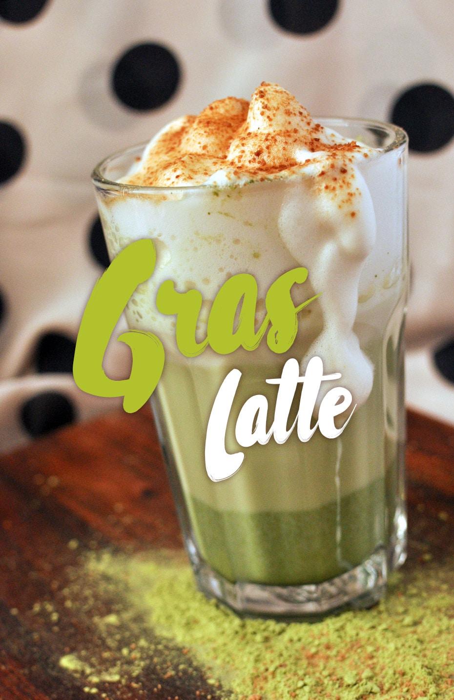 Gerstengras Latte mit Kokosblütenzucker | Schwatz Katz