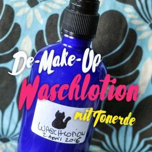 Easy De-Make-Up Waschlotion mit Tonerde   Schwatz Katz