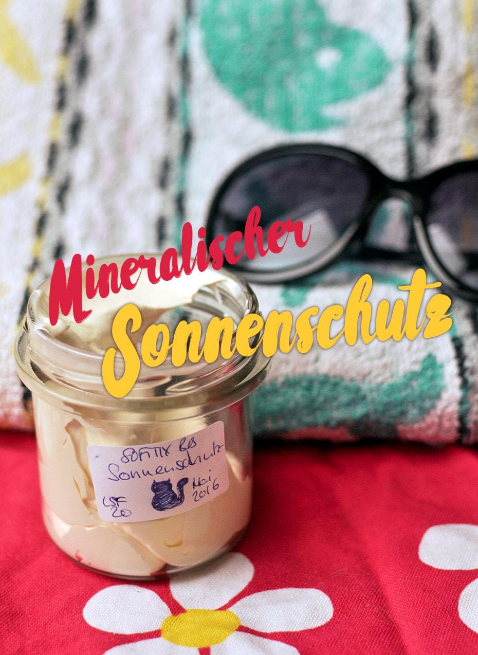 Mineralischer Sonnenschutz als Whip, LSF 20 | Schwatz Katz