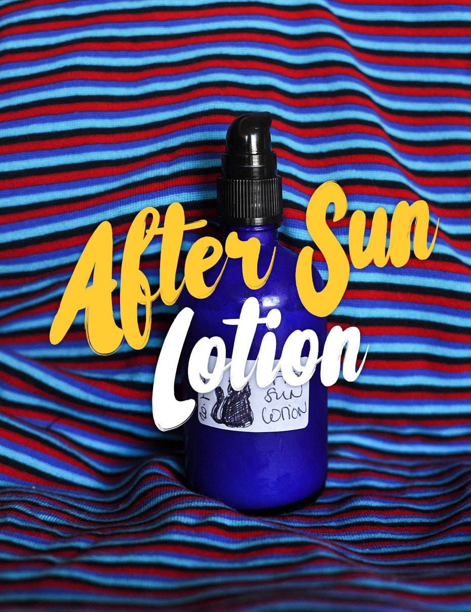 DIY After Sun Lotion (fast) kalt gerührt | Schwatz Katz