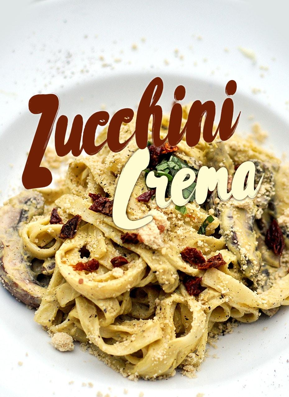 Vegan Zucchini Crema zu Pasta | Schwatz Katz