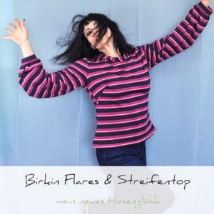 Genäht: Birkin Flares & gestreiftes Top | Schwatz Katz