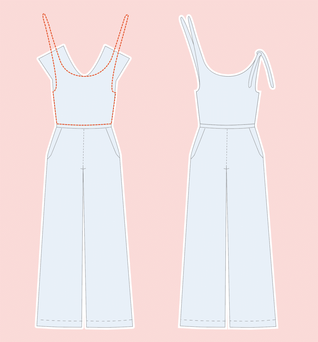 Sallie Jumpsuit von Closet Case Files | Schwatz Katz