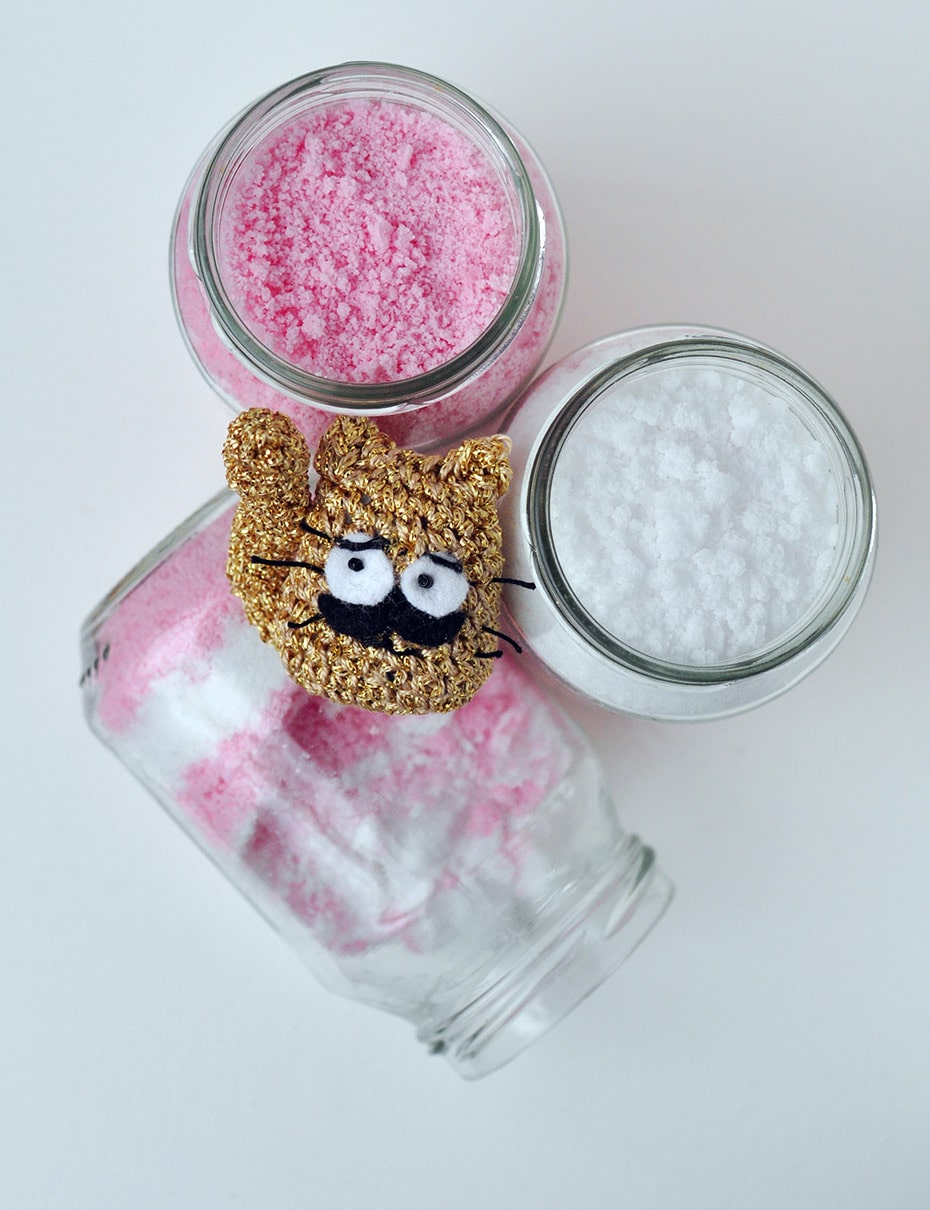Rosa Zuckerstangen Badesalz mit Magnesium | Schwatz Katz