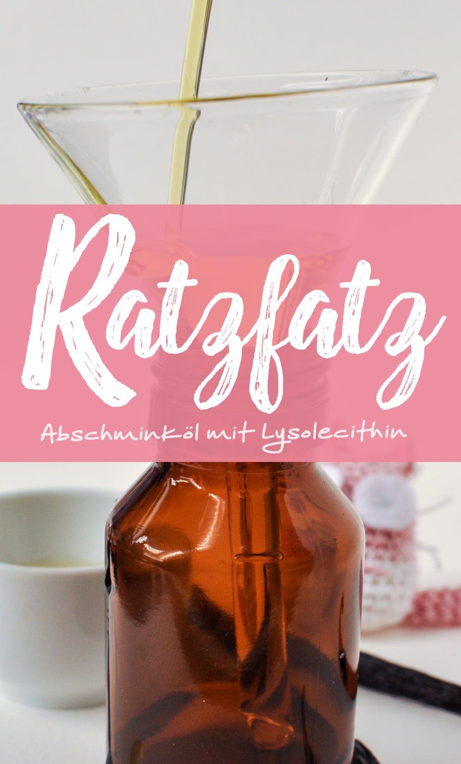 »Ratzfatz« Abschminköl mit Lysolecithin | Schwatz Katz