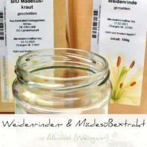 Weidenrindenextrakt & Mädesüßextrakt in Alkohol | Schwatz Katz