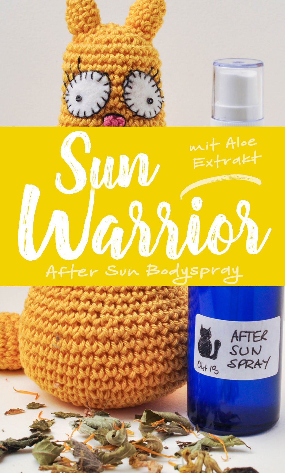 »Sun Warrior« After Sun Bodyspray | Schwatz Katz