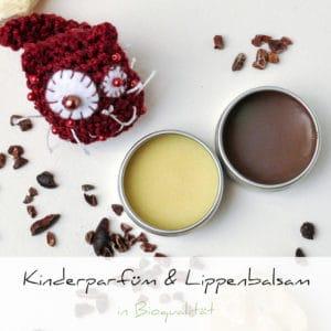 »Schokoprinzessin« festes Kinderparfüm & Lippenbalsam | Schwatz Katz