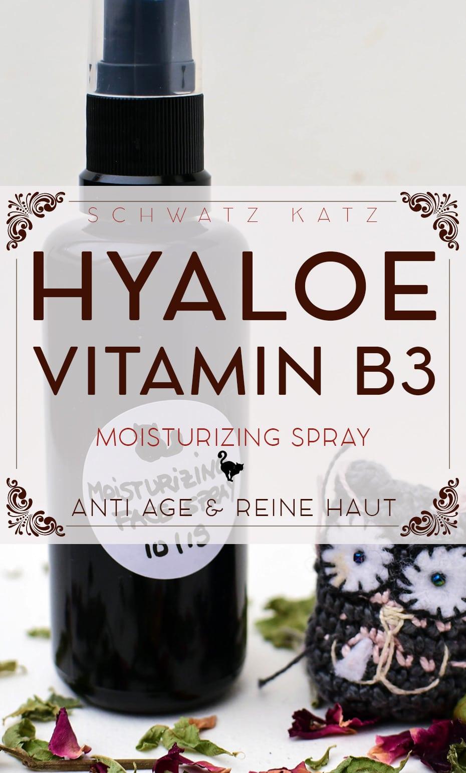 »Hyaloe B3« Moisturizing Face Spray   Schwatz Katz