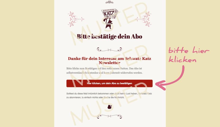 Schwatz Katz Newsletter abonnieren!