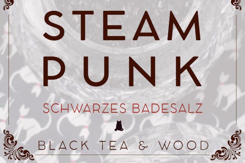 Erdendes Black Tea Badesalz »Steampunk« | Schwatz Katz