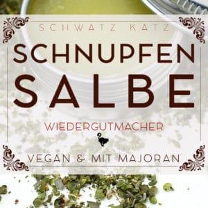 Majoran Schnupfensalbe im veganen Kleid | Schwatz Katz