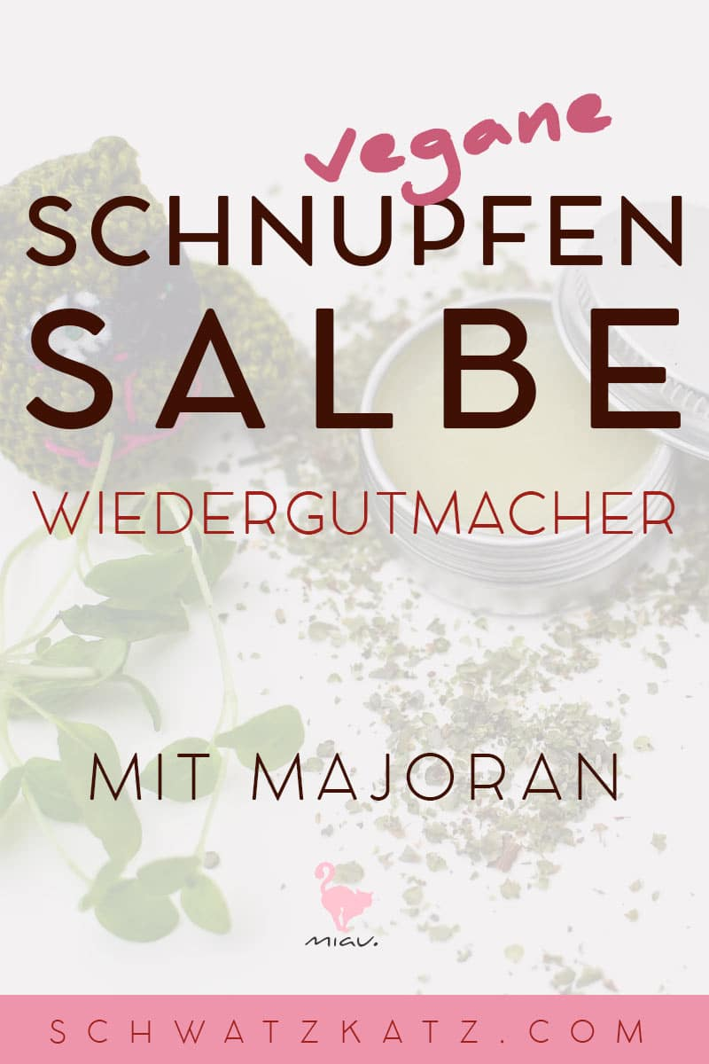 Majoransalbe im veganen Kleid | Schwatz Katz