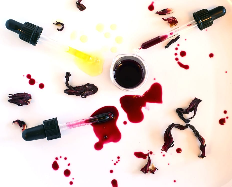 Dreierlei Hibiskus Extrakt in Öl, Alkohol & Glycerin | Schwatz Katz