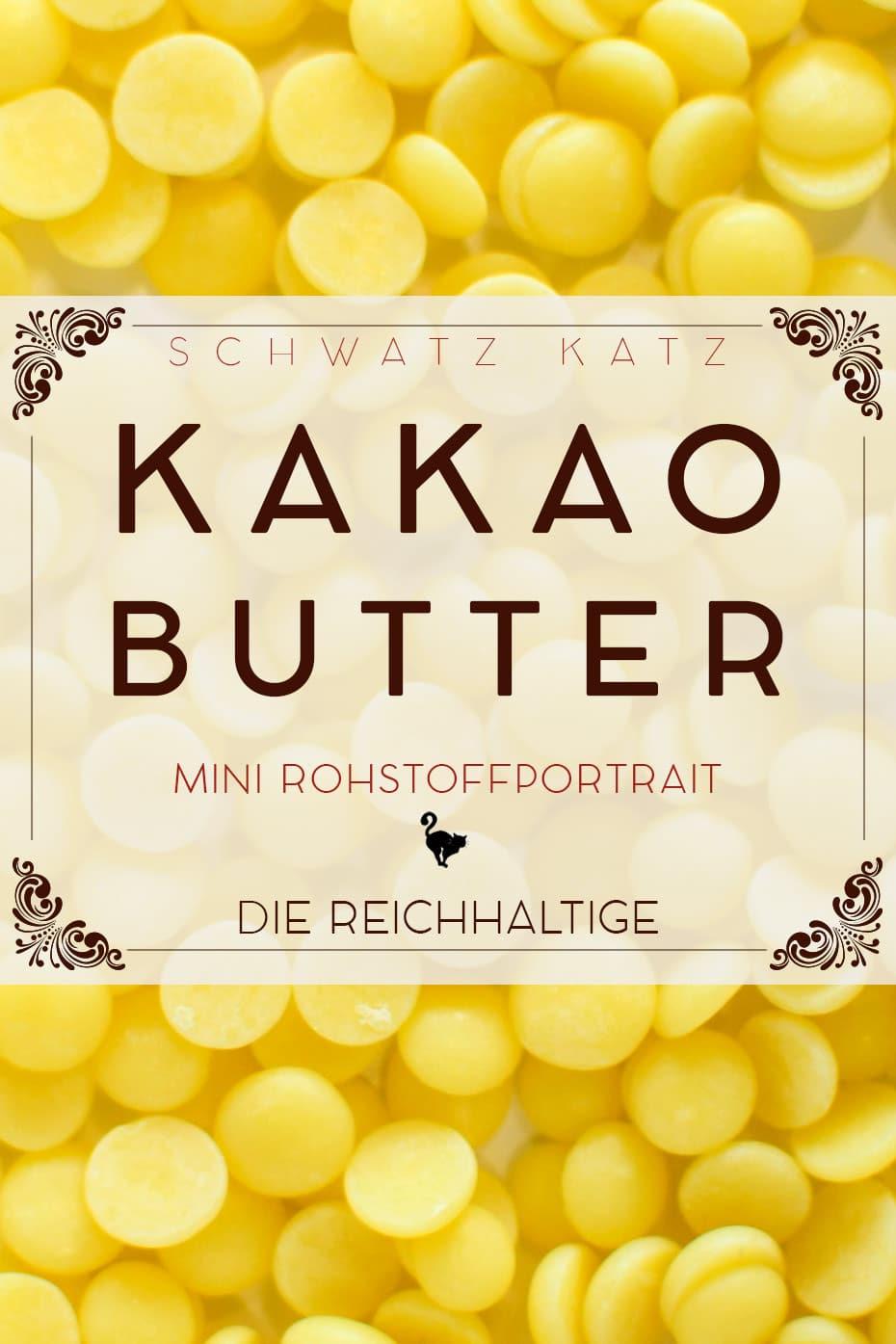 Kakaobutter Mini Rohstoffportrait von Schwatz Katz