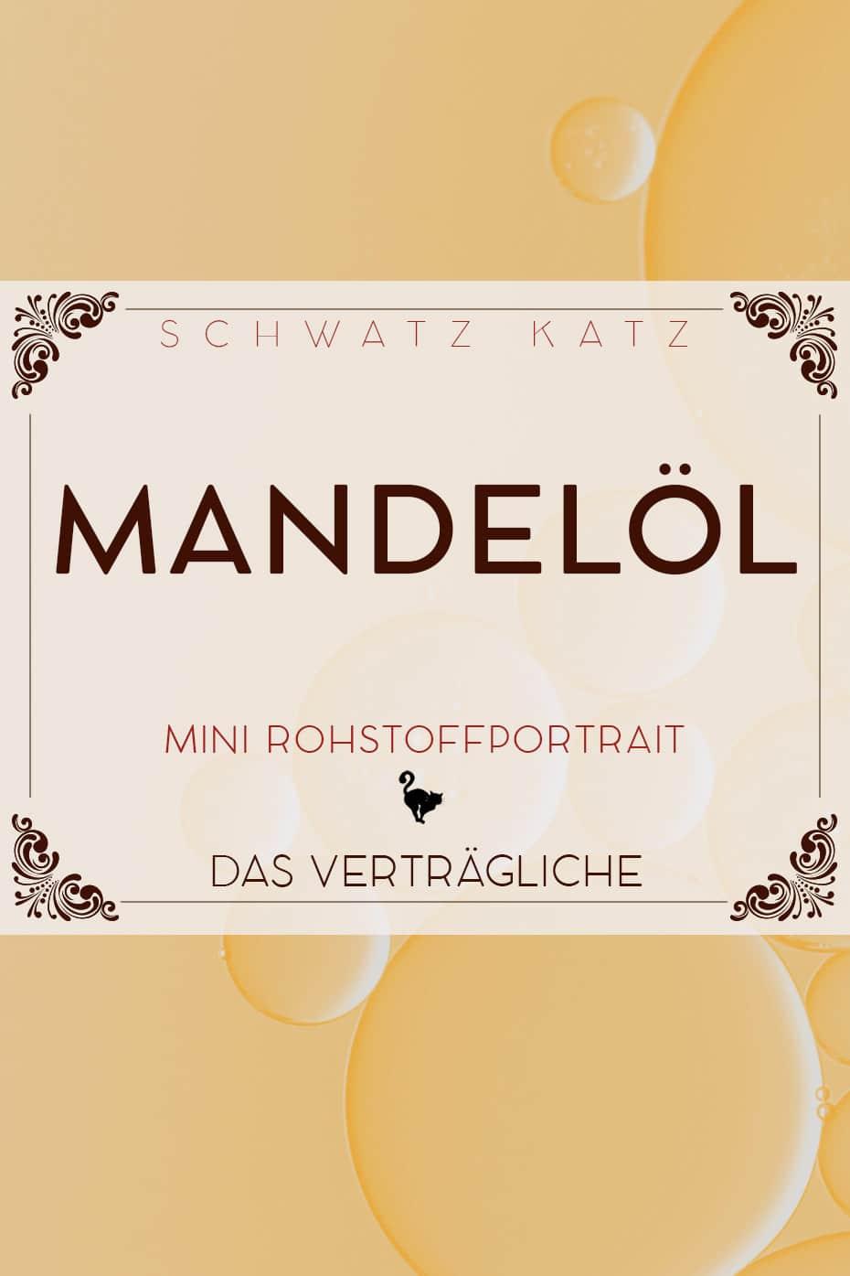 Mandelöl Mini Rohstoffportrait von Schwatz Katz